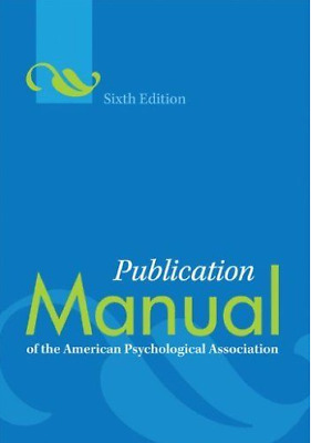 (PDF) Publication Manual of the American Psychological Association, 6th Edition