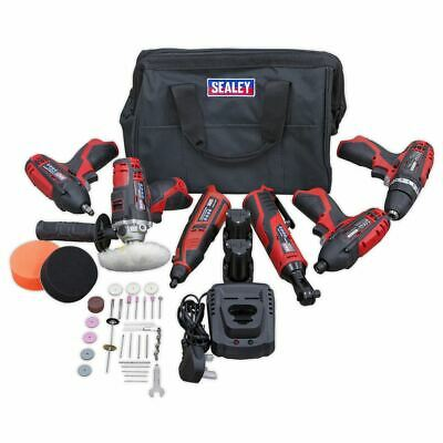 Sealey CP1200 12v 6 Tool Cordless Power Tool Combo Kit With 2 Batts & Charger