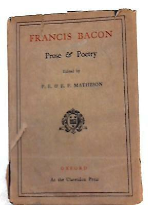 Francis Bacon (P.E. & E.F. Matheson (Editors) - 1927) (ID:84969)