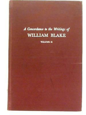 Concordance to the Writings of Blake Vol 2 (David V. Erdman - 1967) (ID:89430)