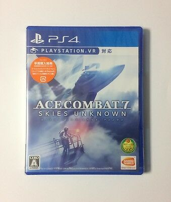 NEW PS4 ACE COMBAT 7 SKIES UNKNOWN JAPAN Sony PlayStation 4 VR Supported game