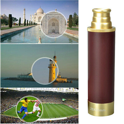 AU Antique Telescope Nautical Pirate Spyglass Scope with PU Cover Lovely Gift 1X