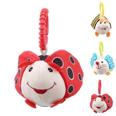 Kids Infant Baby Ring Sound Bell Shock Doll Funny Stroller Rattle Plush Toy FA