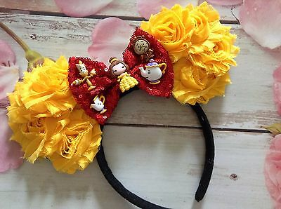 Beauty and the Beast Mickey Mouse Ears Headband-Disney World,Disneyland-Belle