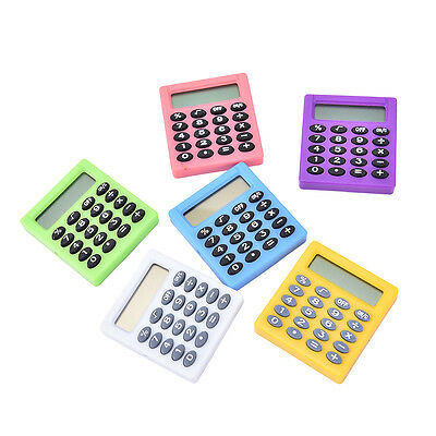 Student small Mini Electronic Calculator Candy Color Calculating Office H JX