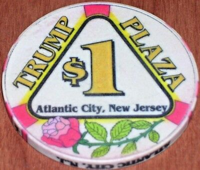 $1 3rd EDITION CHIP FROM THE TRUMP PLAZA CASINO ATLANTIC CITY
