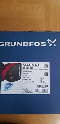 Grundfos Magna3 40-60 F (220) 97924267 Variable Speed Circulator Pump #1111