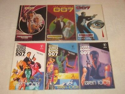 James Bond Permission To Die 1-3 & Serpent's Tooth 1-3 Vf/nm!!!