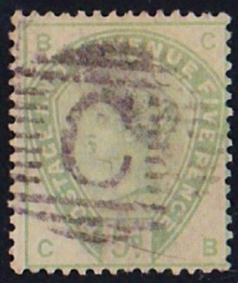GB Used Abroad in CONSTANTINOPLE British Levant C  1884 5d. green.