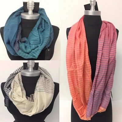 Lot of 10 Wholesale Men Infinity Scarf Wrap Striped Circle Scarves HIGH QUALITY#