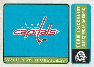 2018/2019 O-Pee-Chee Washington Capitals Team Checklist