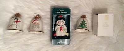Vintage Goebel Bell Ornaments clown ornament lot Christmas