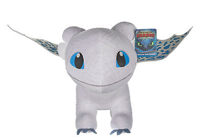 """12"""" How To Train Your Dragon The Hidden World Light Fury Plush Soft Toy Glow"""