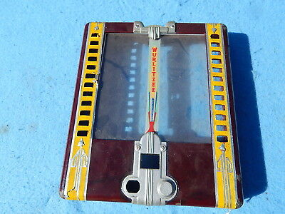 1941 Wurlitzer wallbox 125 cover only with bad paint job