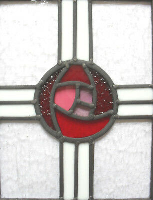 stained glass panel mackintosh style .