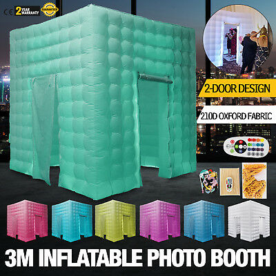2 Door Inflatable LED Light Photo Booth Tent Party Christmas Wedding 110V USA