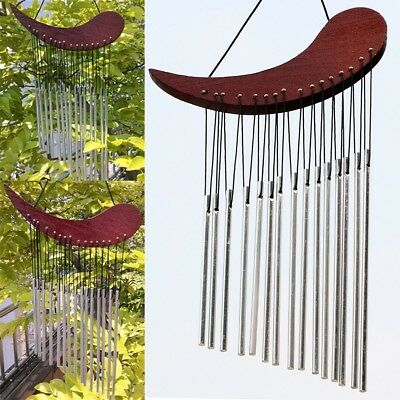 Large Wind Chime Bells aluminum Tubes Wood Metal Chime Outdoor Garden Home Decor