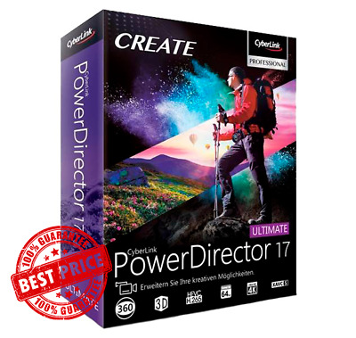 CyberLink PowerDirector Ultimate 17 | Latest Version | Unlimited license | PC