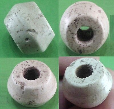 Beautiful Ancient Roman White Glass Stone Bead - 100Bc/100 Ad - Rare