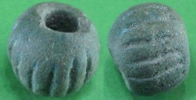 Beautiful Ancient Roman Blue Glass Stone Bead - 100Bc/100 Ad - Rare