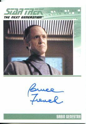 Star Trek The Complete Next Generation Series 2 Autograph Bruce French
