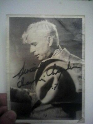 charlie chaplin photo signée tres tres rare AUTHENTIQUE!