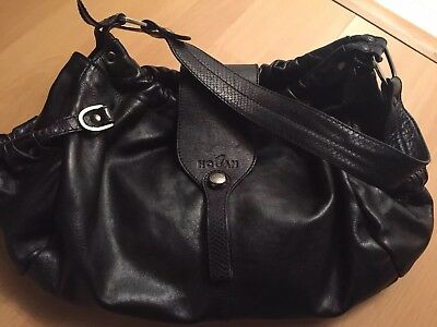 HOGAN Black Leather Shoulder Bag