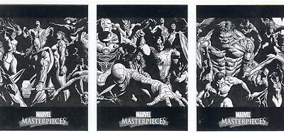 Marvel Masterpieces 2007 Complete 3 Card Box Topper Set