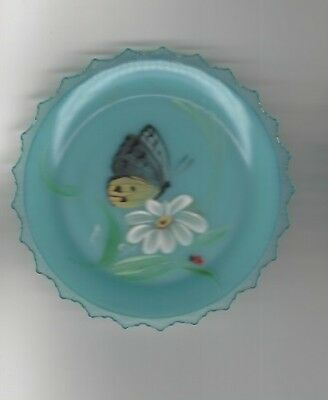 PAIRPOINT HAND PAINTED CUP PLATE SGM  3 1/4 INCHES rare