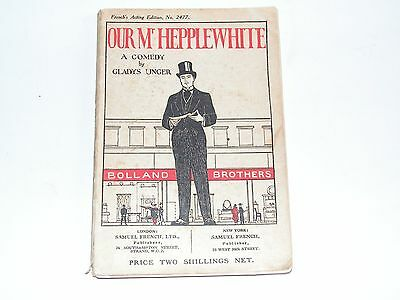 Our Mr Hepplewhite-Gladys Unger-French's 2477 Script-1919