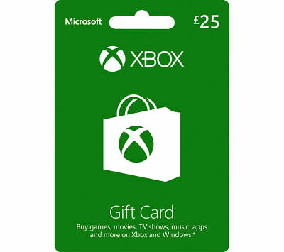 MICROSOFT Xbox Live Gift Card - £25 - Currys