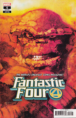 Fantastic Four #6 2019 1:50 Bill Sienkiewicz Incentive Variant Cover, Marvel, NM