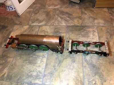 Live Steam 3.5 Inch Gauge Loco 2-6-2 Rolling Chassis & Tender & Boiler Barn Find