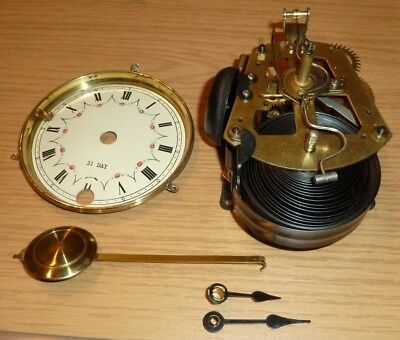 31 day wall clock movement for spares - with hands dial & pendulum