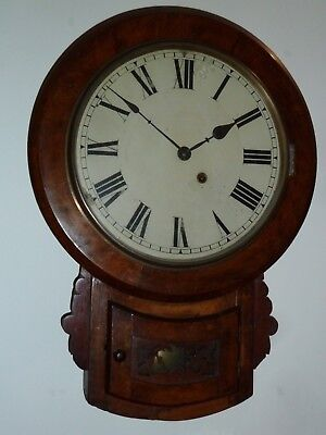 Antique American drop dial wall clock c1890 - GWO