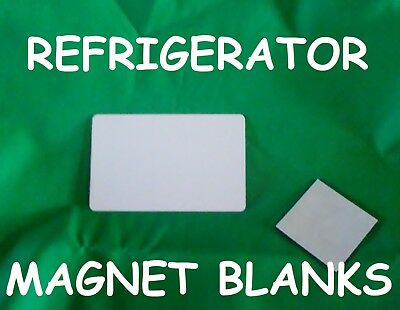 Refrigerator Magnets Gloss White Aluminum Sublimation Blank with Magnet-$0.39ea