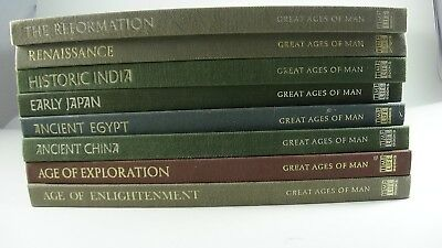 Time Life Books Great Ages Of Man Lot of 8 Japan Eygpt China India Reformation