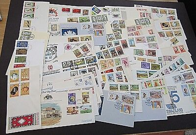 SWAZILAND - FINE COLLECTION OF 60+ F.D.COVERS - 1950s ONWARDS