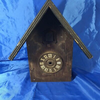 Vintage West Germany Cuckoo Clock Case House CASE ONLY