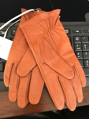NWT Women's Camel Leather Gloves ETCETERA