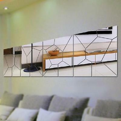 Puzzle Geometric Mirror Wall Sticker Art Decal Living Room Bedroom Decor ON SALE