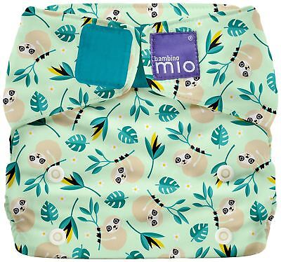Bambino Mio MIOSOLO ALL-IN-ONE RÉUTILISABLE NAPPY - MÉLANGISME SLOTH Nouveau