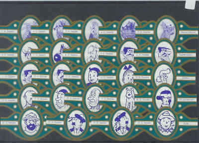 24 sigarenbandjes Diverse Strips - Personages (01) - Lees !!!