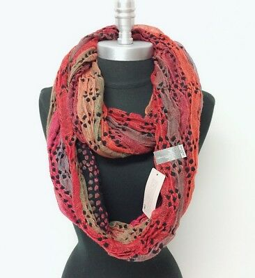 New Women's Knit Crochet Infinity Loop Scarf 2-Circle Wrap Soft Multi-Color