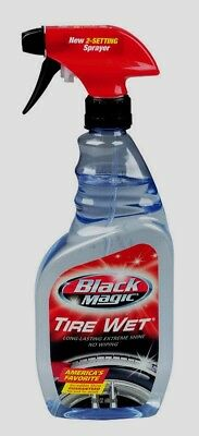 Black Magic Long-Lasting TIRE WET Car Vehicle Gloss Shine Cleaner Spray 23oz NEW