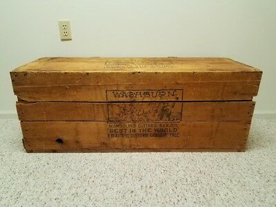Antique 1880's WASHBURN GUITAR Wood Shipping Crate