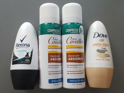 Lot de 4 déodorants DOVE ROGE CAVAILLES