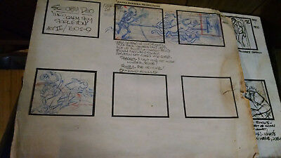 Vintage Original Scooby Doo Storyboard Penciling and Artists Reference Guide
