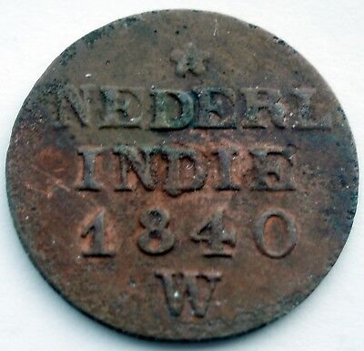 Netherlands East Indies 1 Cent 1840 W Km#290 Ii7.4