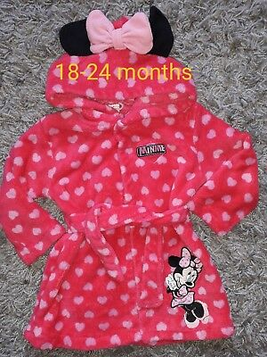 MINNIE MOUSE POLKA DOT DRESSING NIGHT GOWN. 18-24 months.